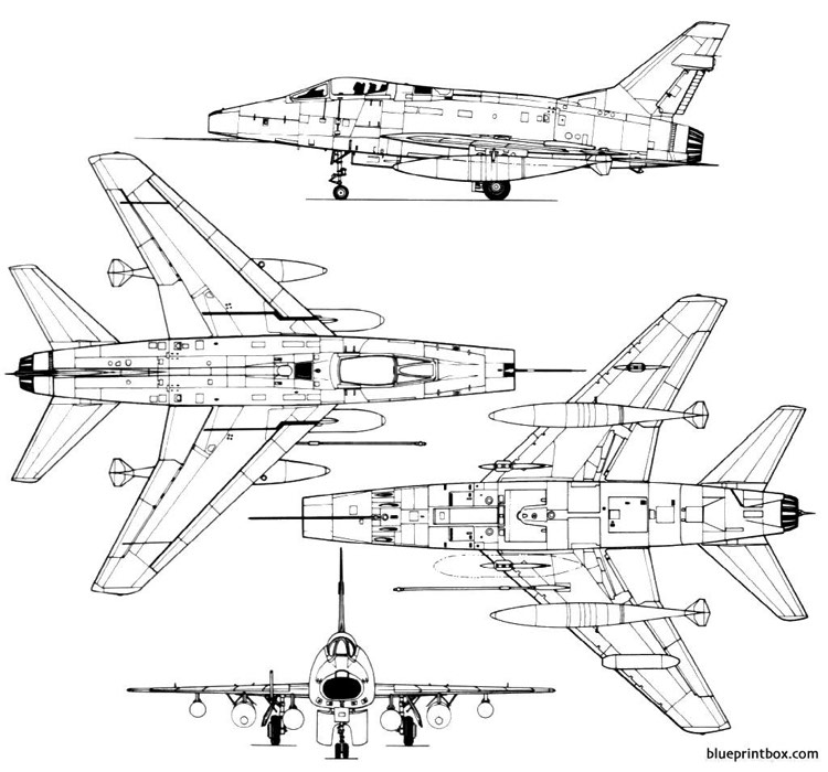 north american f 100 super sabre model airplane plan