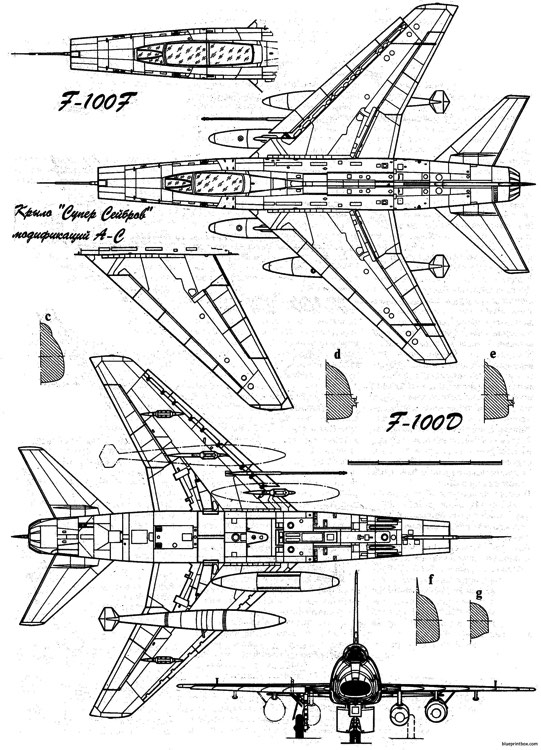 north american f 100ab super sabre 2 model airplane plan