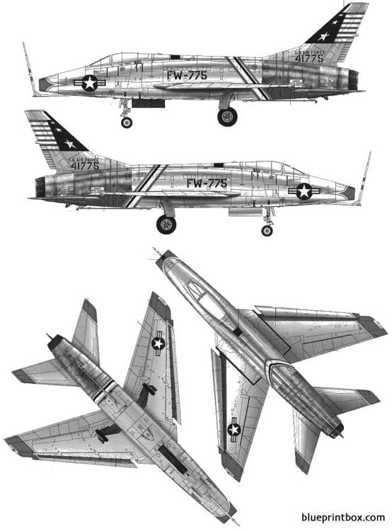 north american f 100c super saber model airplane plan