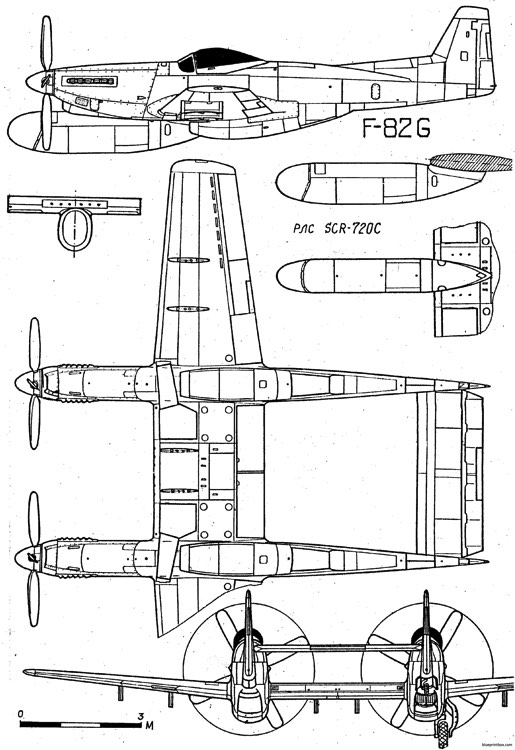 north american f 82 twin mustang 2 model airplane plan