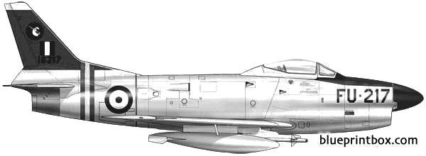 north american f 86d sabre dog 3 model airplane plan