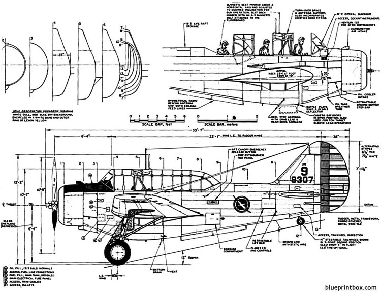 north american o 47a 2 model airplane plan