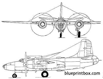 north american xb 28 model airplane plan
