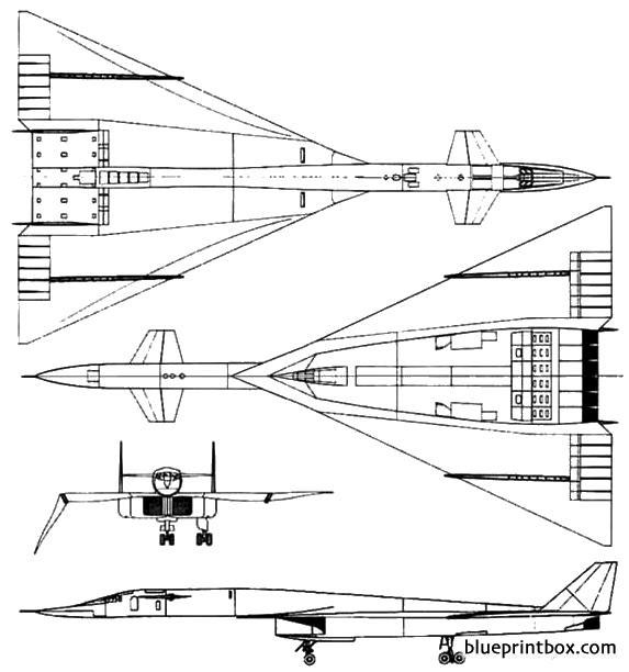 north american xb 70 valkyrie model airplane plan
