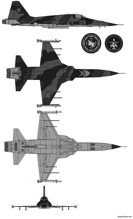 northrop f 5ab freedom fighter model airplane plan