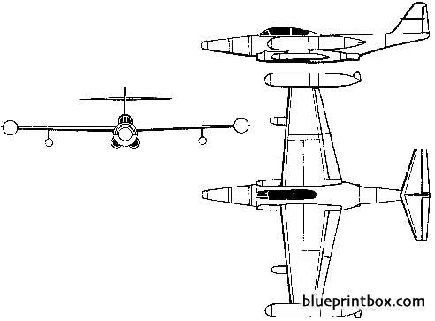 northrop f 89 scorpion 2 model airplane plan