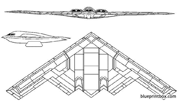 northrop grumman b 2 spirit 3 model airplane plan