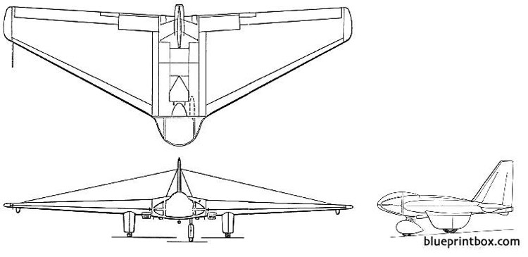 northrop mx 324 334 model airplane plan