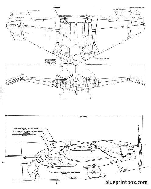 northrop n 1m jeep model airplane plan