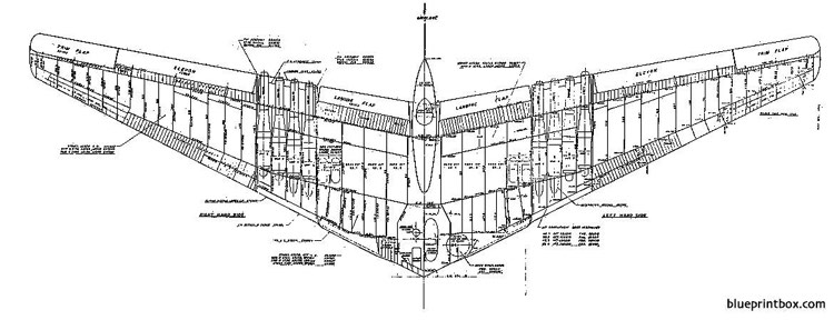 northrop yb 49 3 model airplane plan