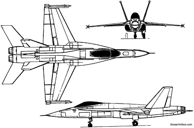 northrop yf 17 1974 usa model airplane plan