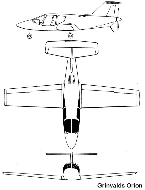 orion 3v model airplane plan