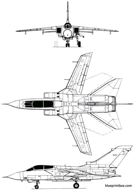 panavia mrca tornado 1974 model airplane plan