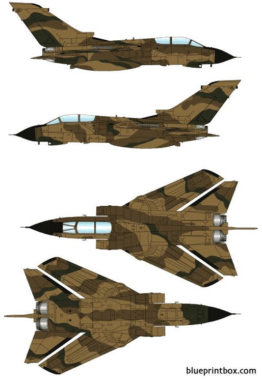 panavia tornado grmk1 2 model airplane plan