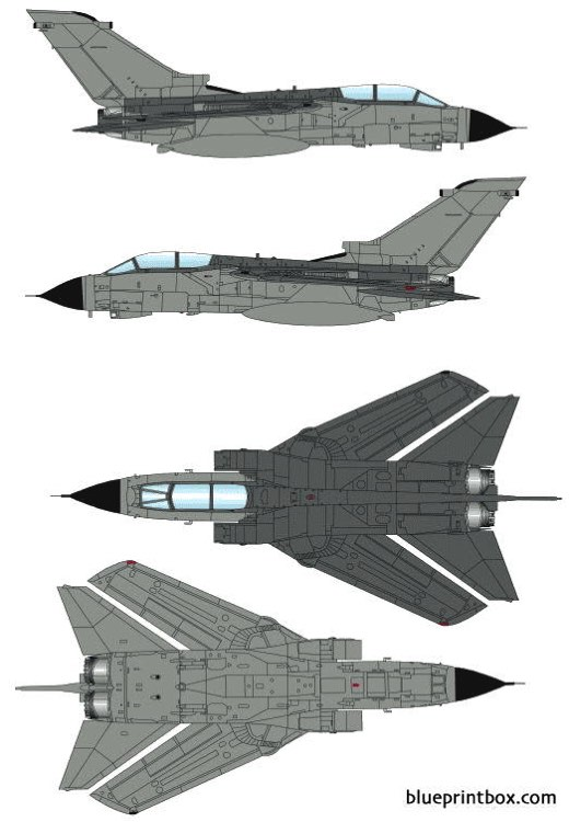 panavia tornado grmk4 model airplane plan
