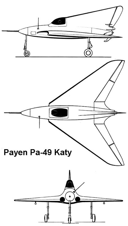 payen katy 3v model airplane plan