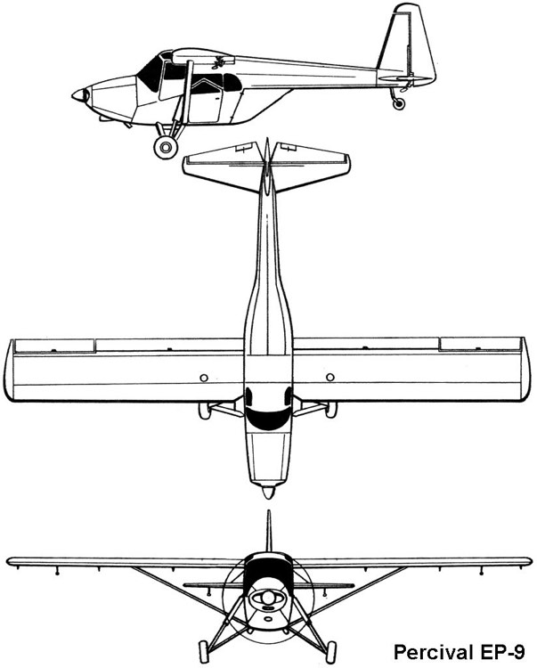 percival ep9 3v model airplane plan