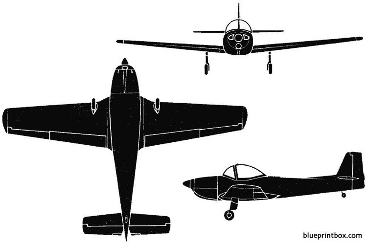 piaggio p148 1951 italy model airplane plan
