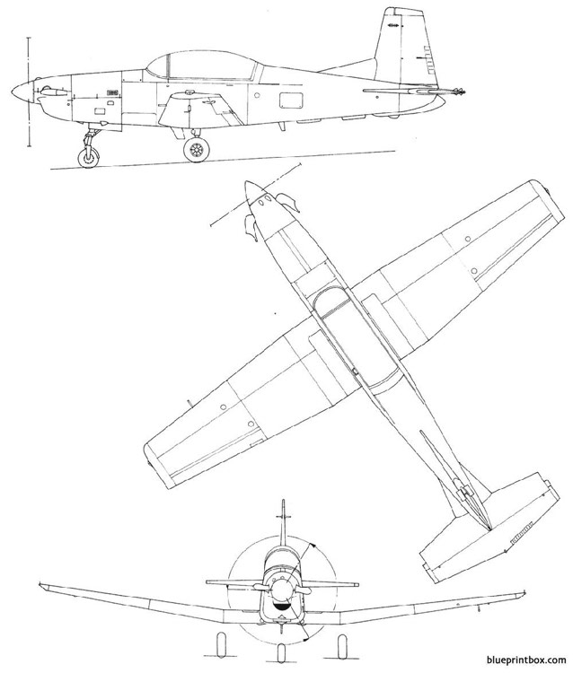 pilatus pc7 model airplane plan