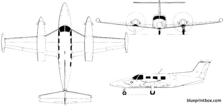 piper pa 42 cheyenne lll model airplane plan