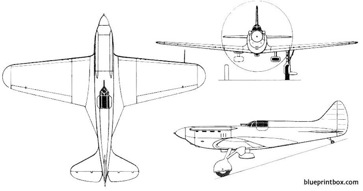 polikarpov i 17 tskb 19 model airplane plan