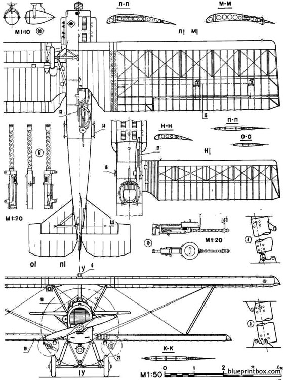 potez 25 model airplane plan