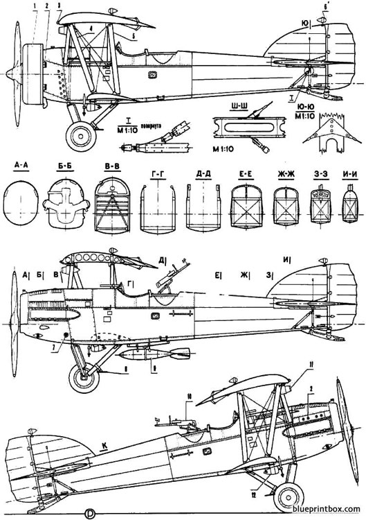 potez 25 2 model airplane plan