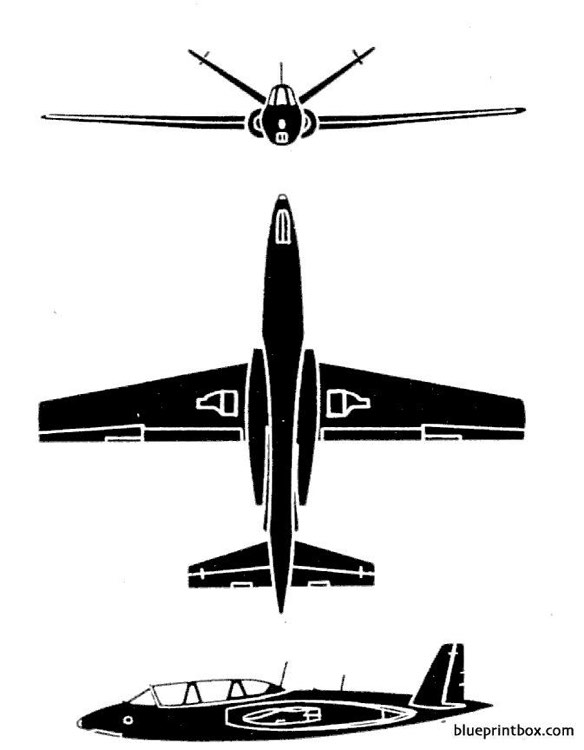 potez air cm 170r magister model airplane plan