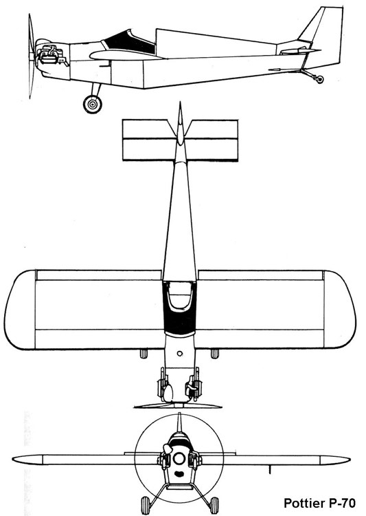 pottier p70 3v model airplane plan