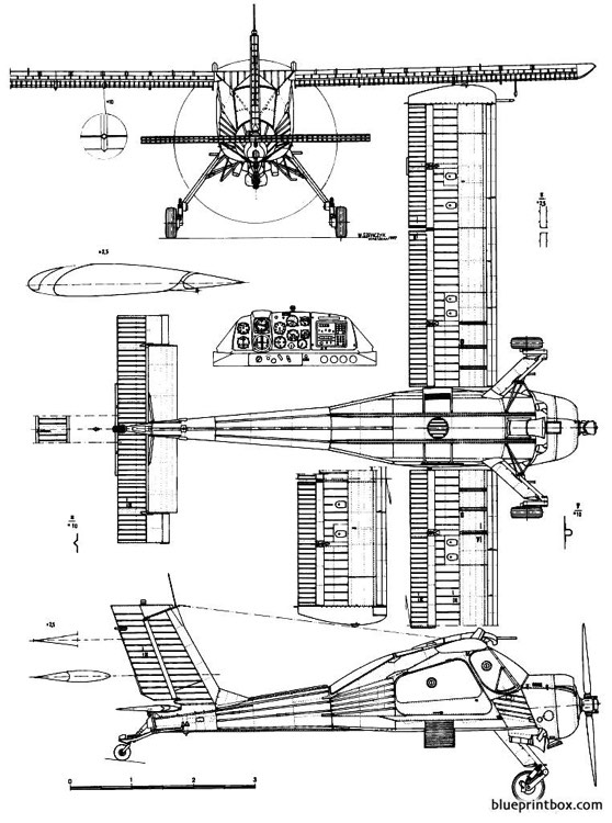 pzl 104 wilga 2 model airplane plan