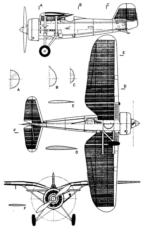 pzl 11 3v model airplane plan