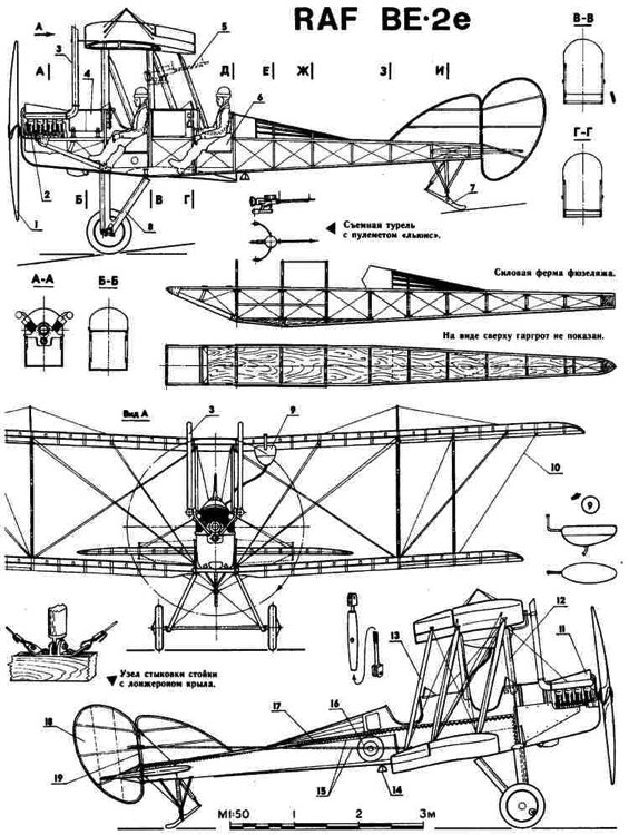 rafbe2 1 3v model airplane plan