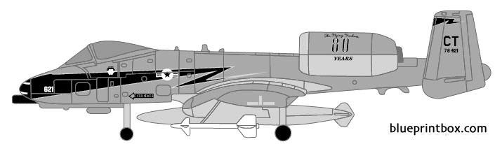 republic a10 thunderbolt model airplane plan