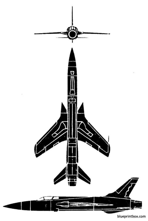 republic f 105 thunderchief model airplane plan