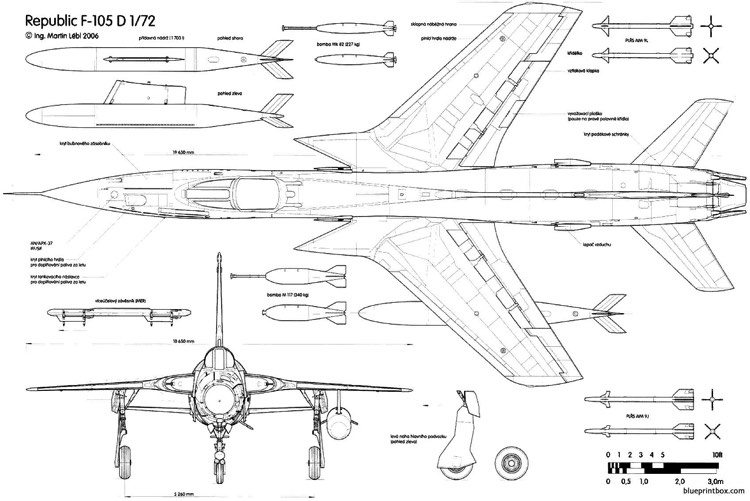 Republic F 105d Thunderchief 2 2 Plans Aerofred