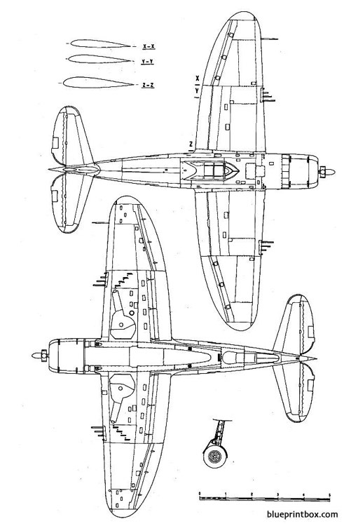 republic p 47c thunderbolt 2 model airplane plan