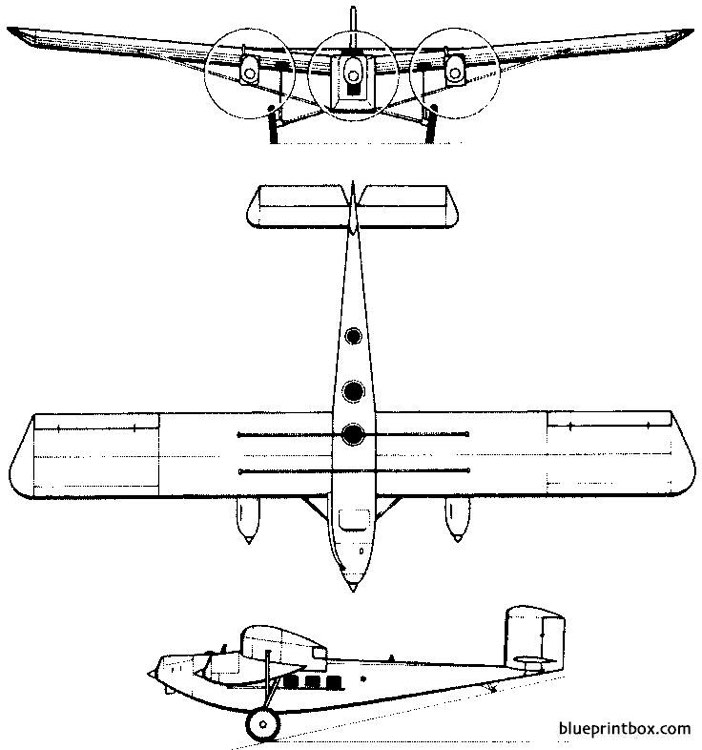 rohrbach ro viii roland 1927 germany model airplane plan