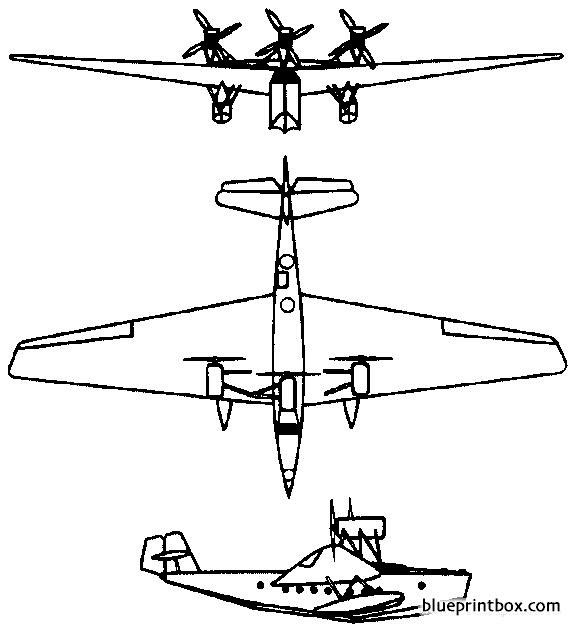 rohrbach ro x romar 1928 germany model airplane plan