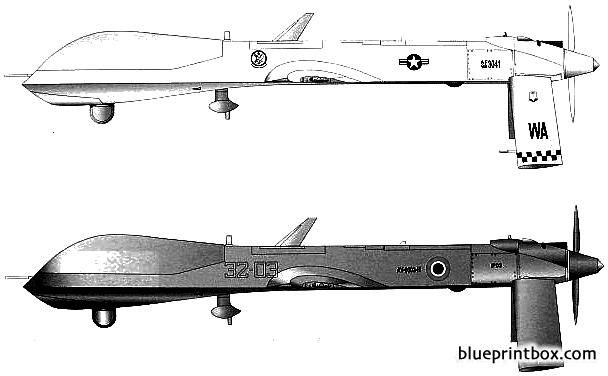 rq 1b predator model airplane plan