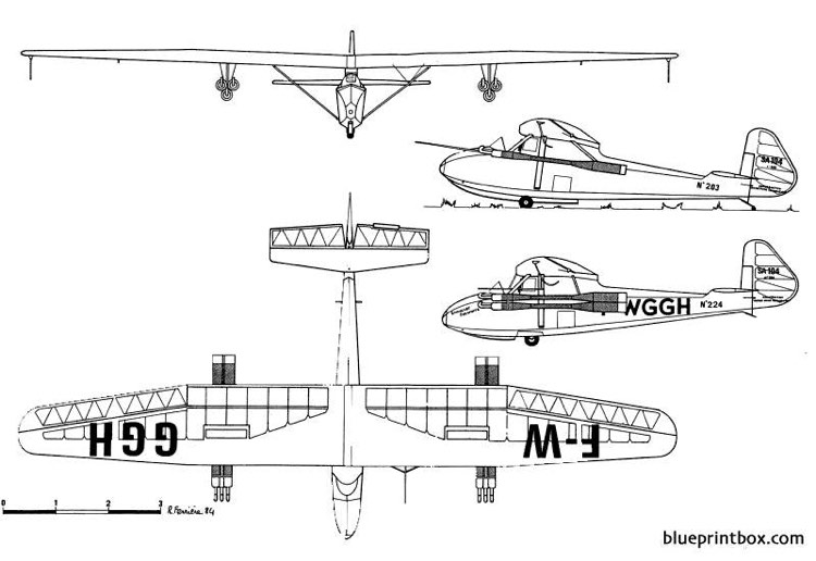 sa 104 emouchet escopette model airplane plan