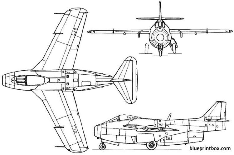 saab 29 tunnan 1948 sweden model airplane plan