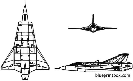 saab j35 draken model airplane plan