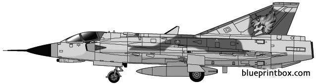 saab j35j draken 2 2 model airplane plan