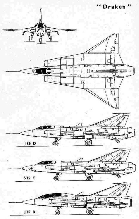 saabj35 3v model airplane plan