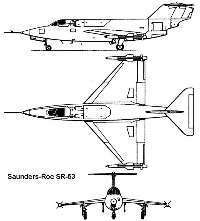 saunders sr53 3v model airplane plan