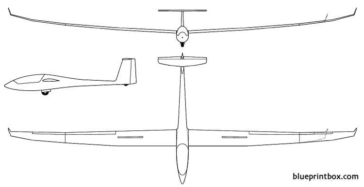 schempp hirth discus 2c model airplane plan