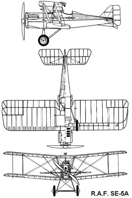 se5a 3v model airplane plan