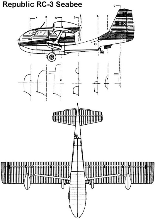 seabee 2 3v model airplane plan