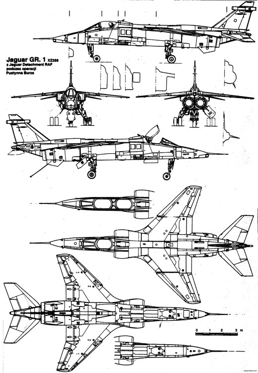 sepecat jaguar 3 model airplane plan