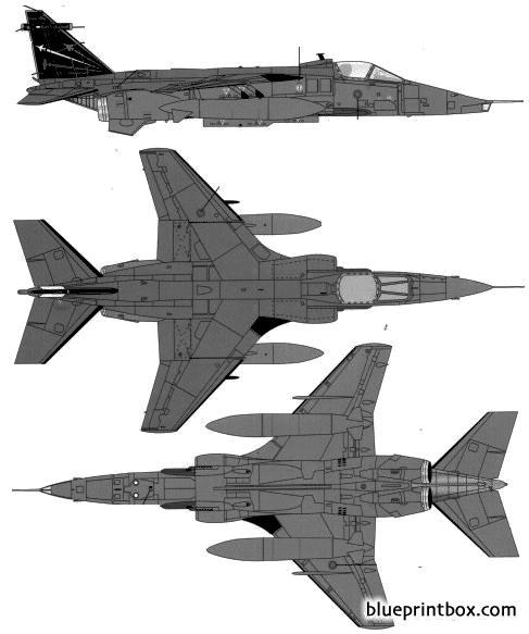 sepecat jaguar gr3a model airplane plan